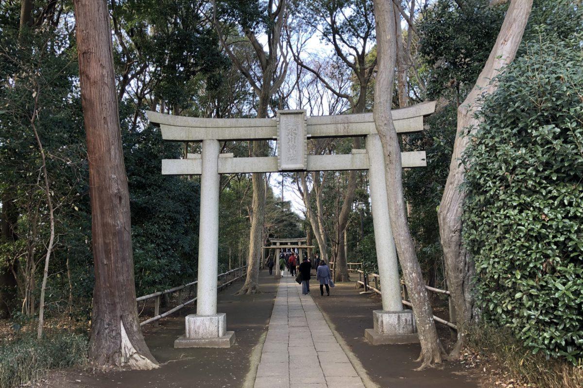 狛江の初詣に氷川神社