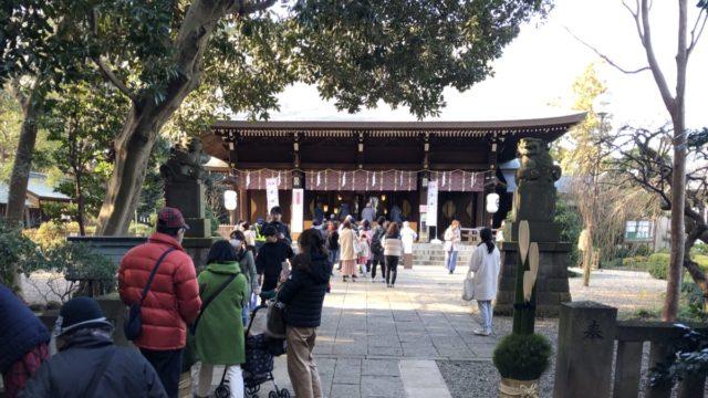 狛江の初詣、氷川神社